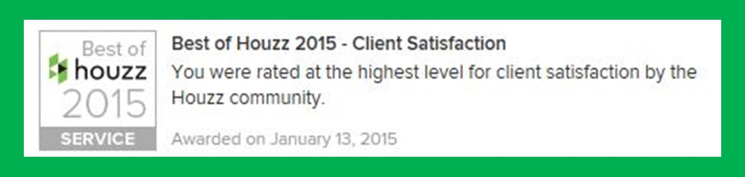 client satisfaction, Houzz, houzz.com, Best of Houzz, Masters Touch Design Build, Best of Houzz Award, Best of Houzz