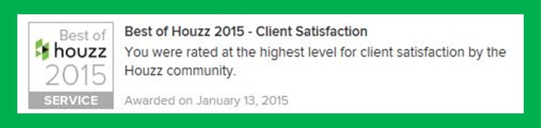 client satisfaction, Houzz, houzz.com, Best of Houzz, Masters Touch Design Build, Best of Houzz Award, Best of Houzz