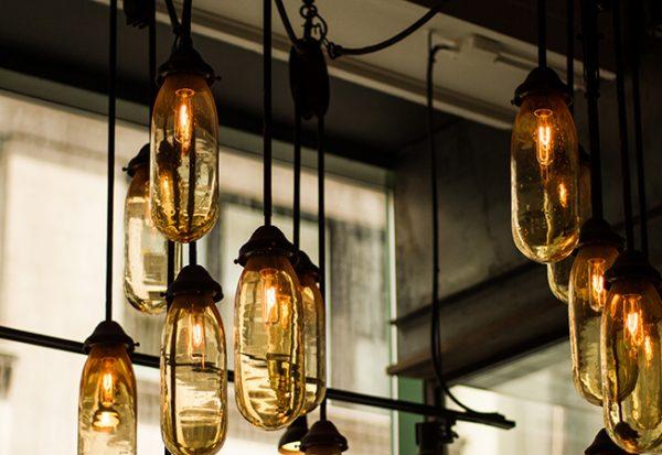 Interior Lighting hangs in room