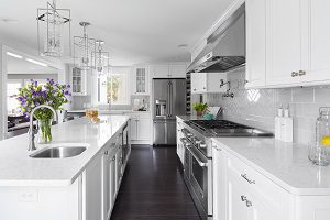 white granite counter tops nice kitchen
