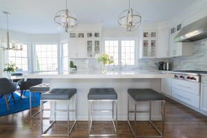 stools in new kitchen