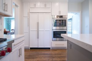 white cabinets in new kitchen