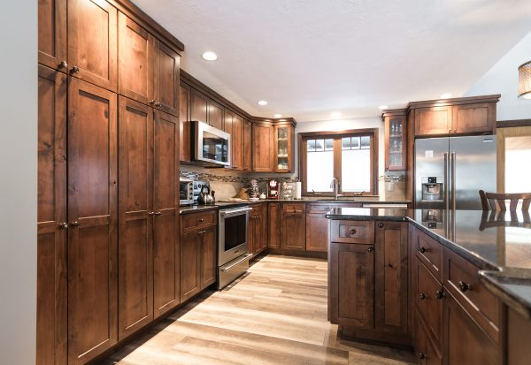 new wooden cabinets
