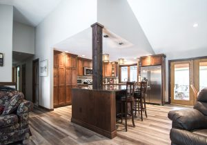 wooden feel in new kitchen remodel